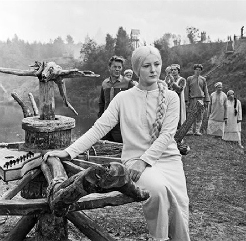 1968 Soviet film 'Snegurochka', based on the play by Alexander Ostrovsky. Directed by Pavel Kadochnikov. The role of 'Snegurochka' is played by Evgenia Filonova