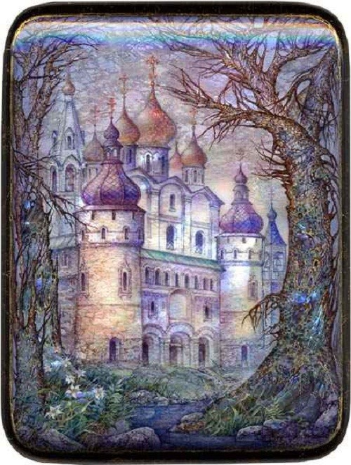 Ancient Rostov. Laquer paintings by Sergey Knyazev