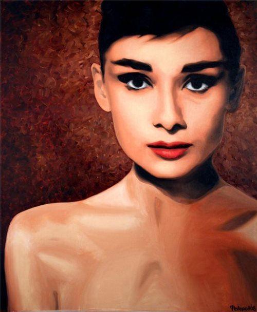 Audrey Hepburn. Painting by Daniil Fedorov