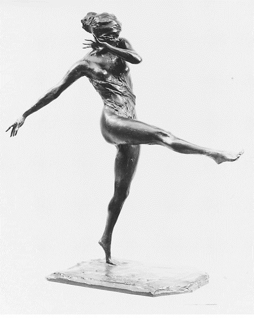 Dancing Girl. Bronze (cire perdue). Sculpture by Prince Paul Troubetzkoy (1866–1938), Russian self-taught artist