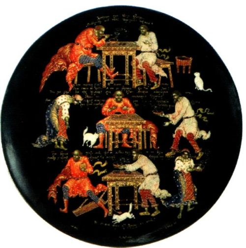 Palekh lacquer miniature