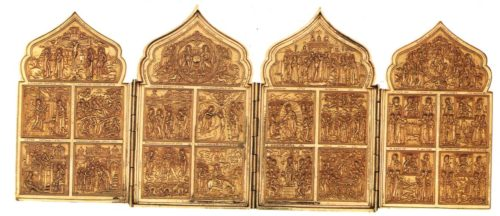 Four-door Triptych, 'Twelve Great Feasts and the worship of images of Our Lady'. Vyg. 1717