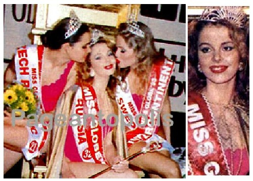Russian winners of world beauty contests. Globe_1993-Top-3, Polina Zhuravlyova - Vikhovskaya, Miss Globe 1993