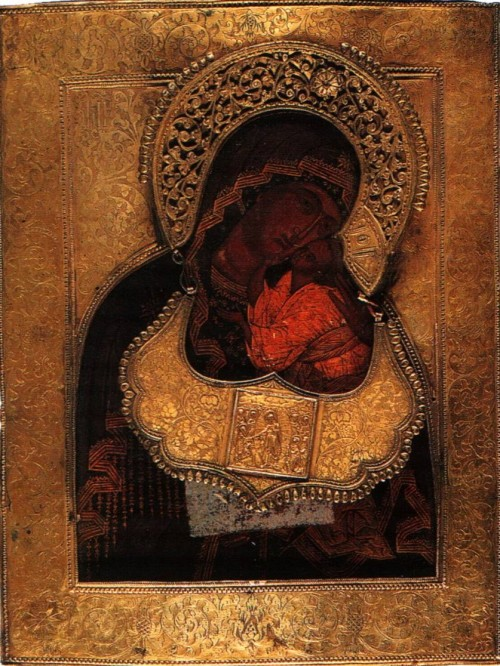 Icon of the Mother of God of Tenderness Yaroslavl. Pomeranian letter. 18th Century