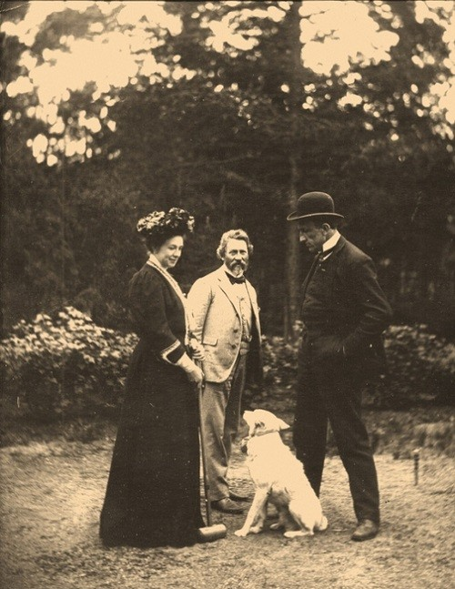 Ilya Repin, sculptor Paolo Troubetzkoy with his wife at the croquet ground