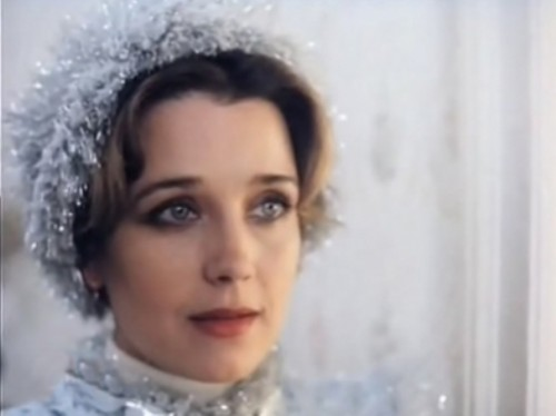 Irina Alferova as Snegurochka in the TV film