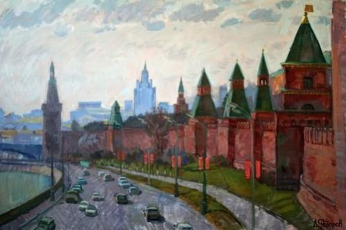 Kremlin, 2009. Painting by Daniil Fedorov