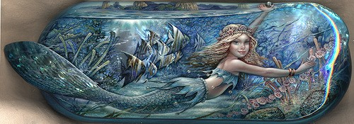 Little mermaid. Laquer paintings by Sergey Knyazev