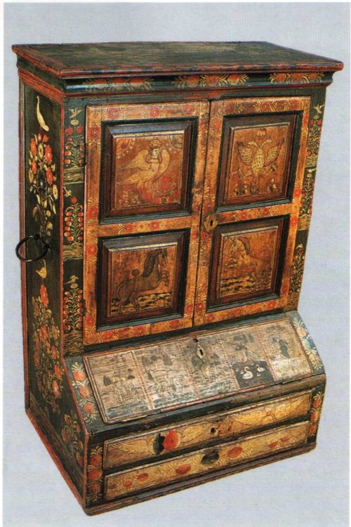Locker-cabinet. Vyg. The second half of the 18th century
