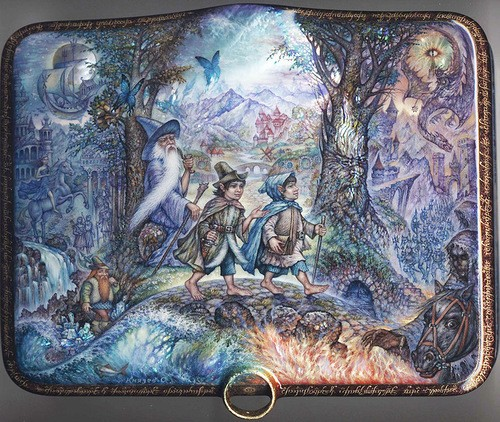 Lord of the rings. Laquer paintings by Sergey Knyazev