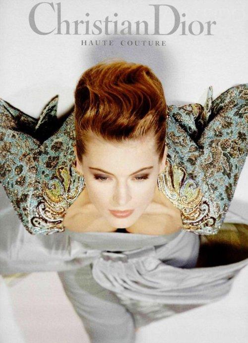 model Ludmila Isaeva for Dior, 1991