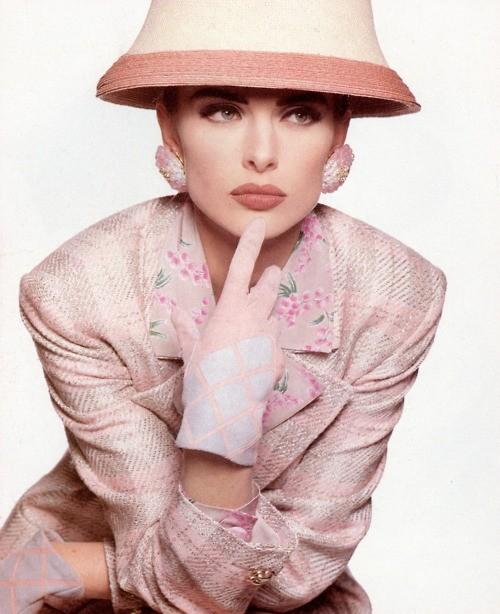 Ludmila Isaeva Malahova for Valentino Spring Summer 1991 ads