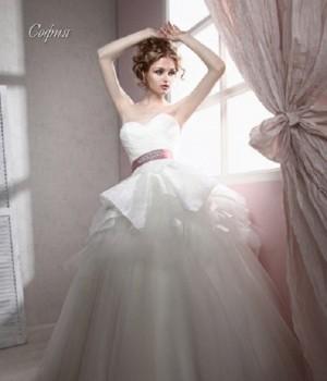 In a white dress. Maria Kalinina