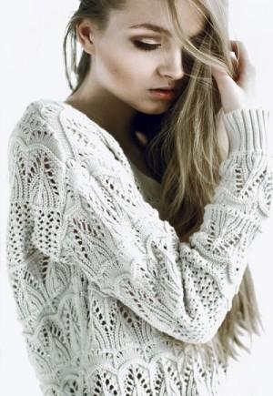 Sweater ads. Maria Kalinina