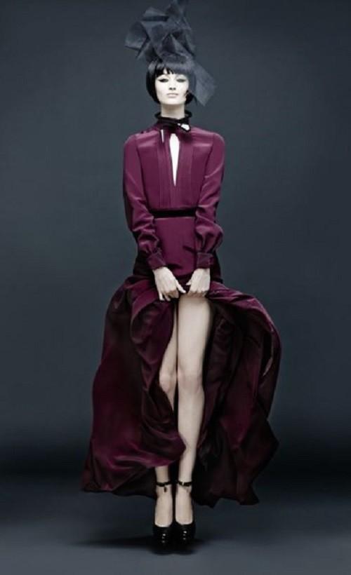 During fashion show. Maria Kalinina