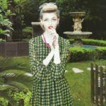 In a polka dot dress. Maria Kalinina