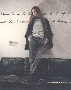 Leaning on the wall, Maria Kalinina