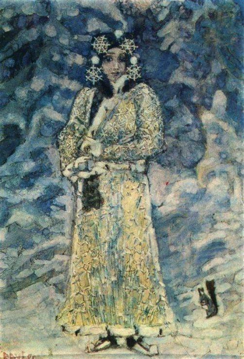 Mikhail Vrubel. Snowmaiden. 1890s