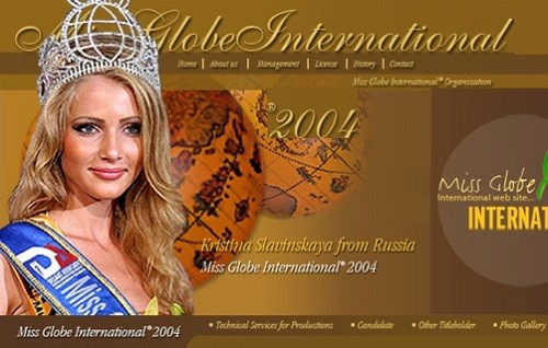 Miss Globe International (in Albania) - Kristina Slavinskaya