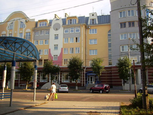 New residential building in the city center