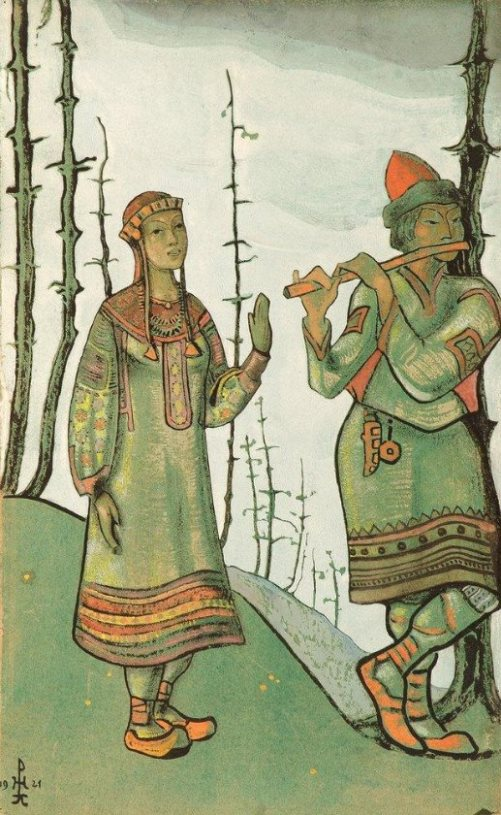 Nicholas Roerich. Snow Maiden and Lel. 1921