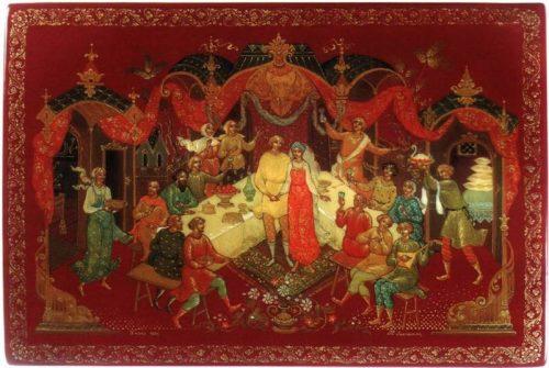 Russian treasure Palekh lacquer miniature