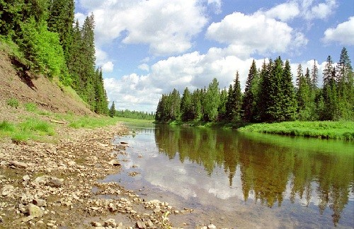 Most famous anomalous zones of Russia - Molyobka, which offers great views of the area and the river Sylva.