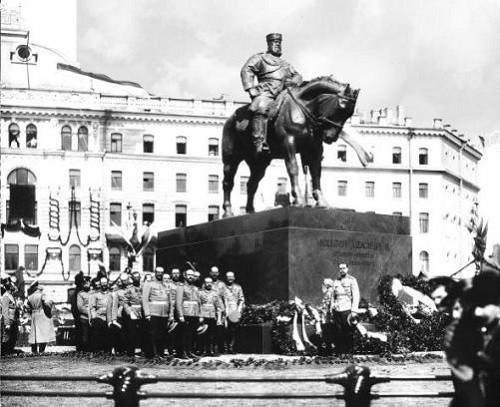 Opening of the monument to Alexander III in St. Petersburg, May 23, 1909