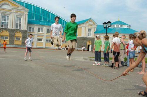 P.E. lesson, doing sports
