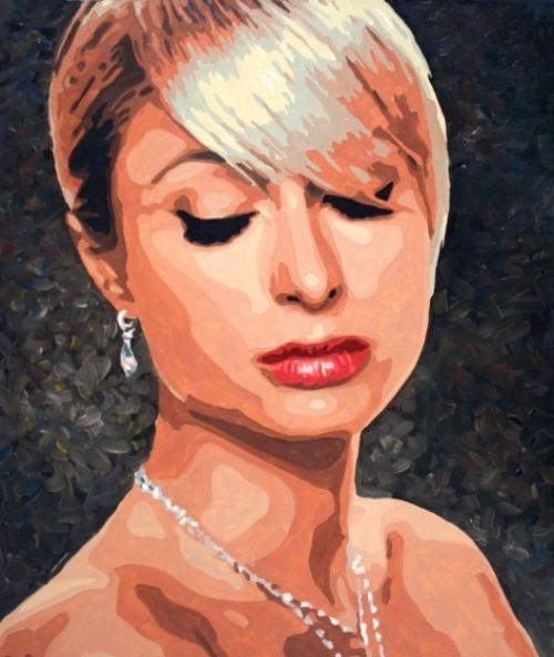 Paris Hilton. Painting by Daniil Fedorov