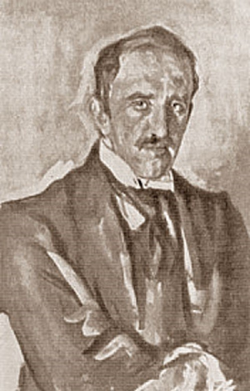 Portrait of Pavel Petrovich Trubetskoy by Valentin Serov