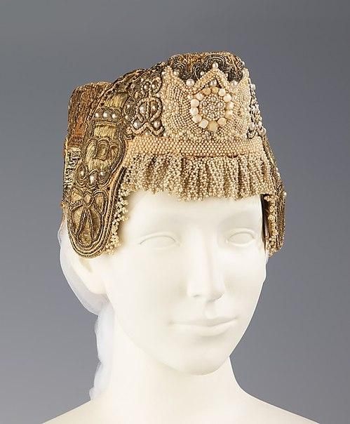 Date - 19th century. Medium - silk, metal, linen. Brooklyn Museum Costume Collection at The Metropolitan Museum of Art
