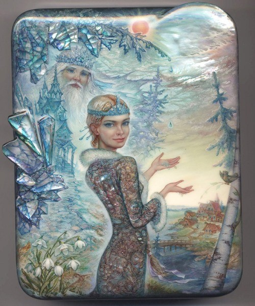 Snowmaiden, painting by Sergey Knyazev