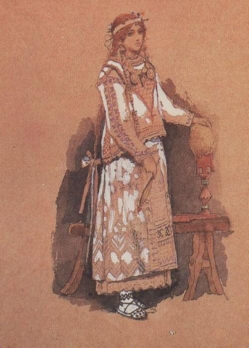 Viktor Vasnetsov (1848-1926). Snegurochka.1885