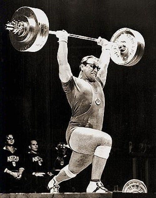 Outstanding Russian sportsman Yuri Vlasov