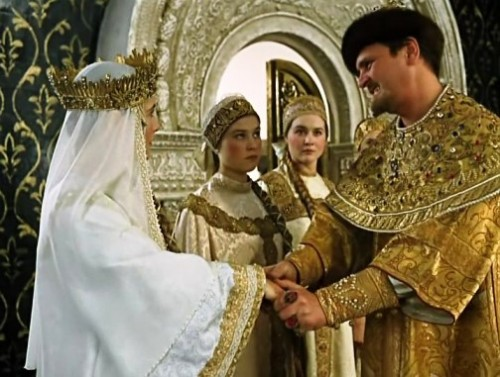 Russian actor Yury Yakovlev in 1973 comedy film Ivan Vasilievich Changes Profession, as Ivan the Terrible