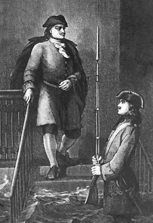 A. Prokhorov. Peter the Great notices the guard, who didn't leave his post in flood September 9, 1703