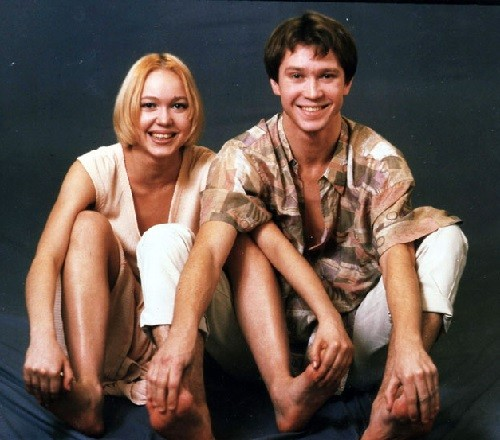 Actor Yevgeny Mironov and his younger sister Oksana Mironova, ballerina