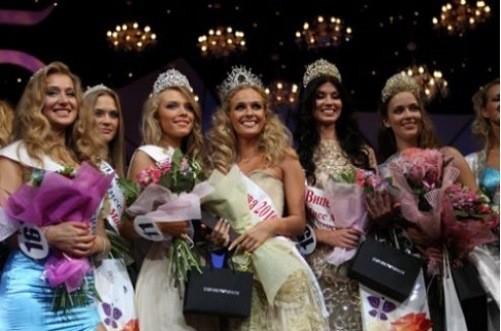 Anastasia Trusova, winner of national beauty contest 'Beauty of Russia 2013'