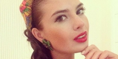 Anastasia Trusova, winner of national beauty contest 'Beauty of Russia 2013'