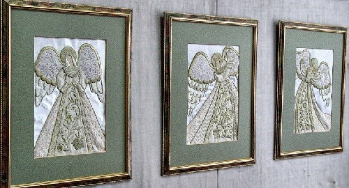 Angels dancing. Torzhok gold embroidery