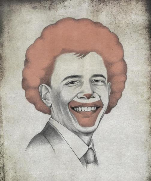 Barac Obama. Political caricature by Viktoria Tsarkova