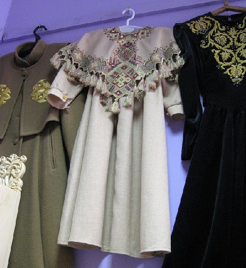 Clothes decorated with goldwork