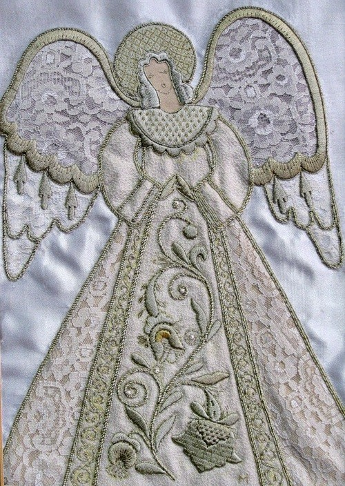 Delicate angel. The  Gold embroidery school in Torzhok