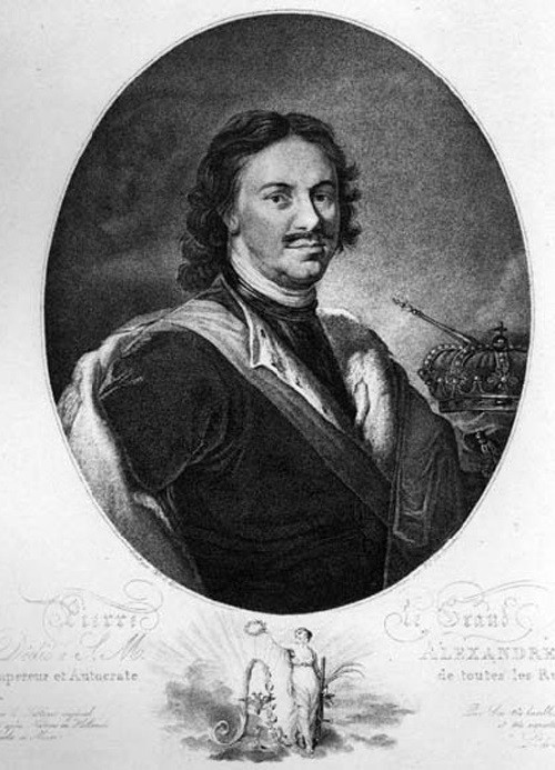 Peter the Great in paintings. Francesco Vendramini. Peter I