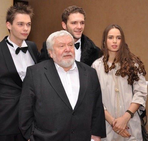 From left to right - actor Aristarkh Venes, film director Sergei Solovyov, actor Konstantin Kryukov, actress Sofia Karpunina