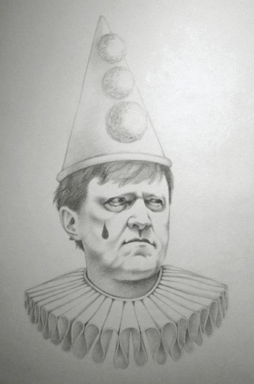 Grigory Yavlinsky. Political caricature by Viktoria Tsarkova