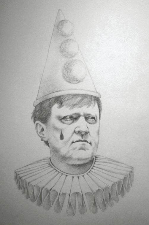 Grigory Yavlinsky. Political caricature by Viktoria Tsarkova