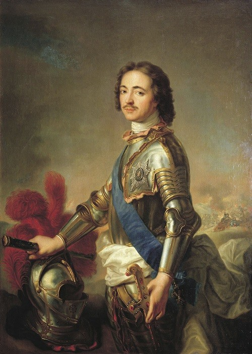 Jean-Marc Nattier Portrait of Peter I in knightly armor