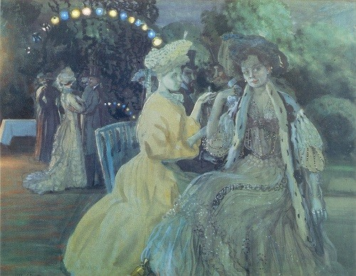 Russian artists Wanderers. Konstantin Somov. Courtesans. 1903